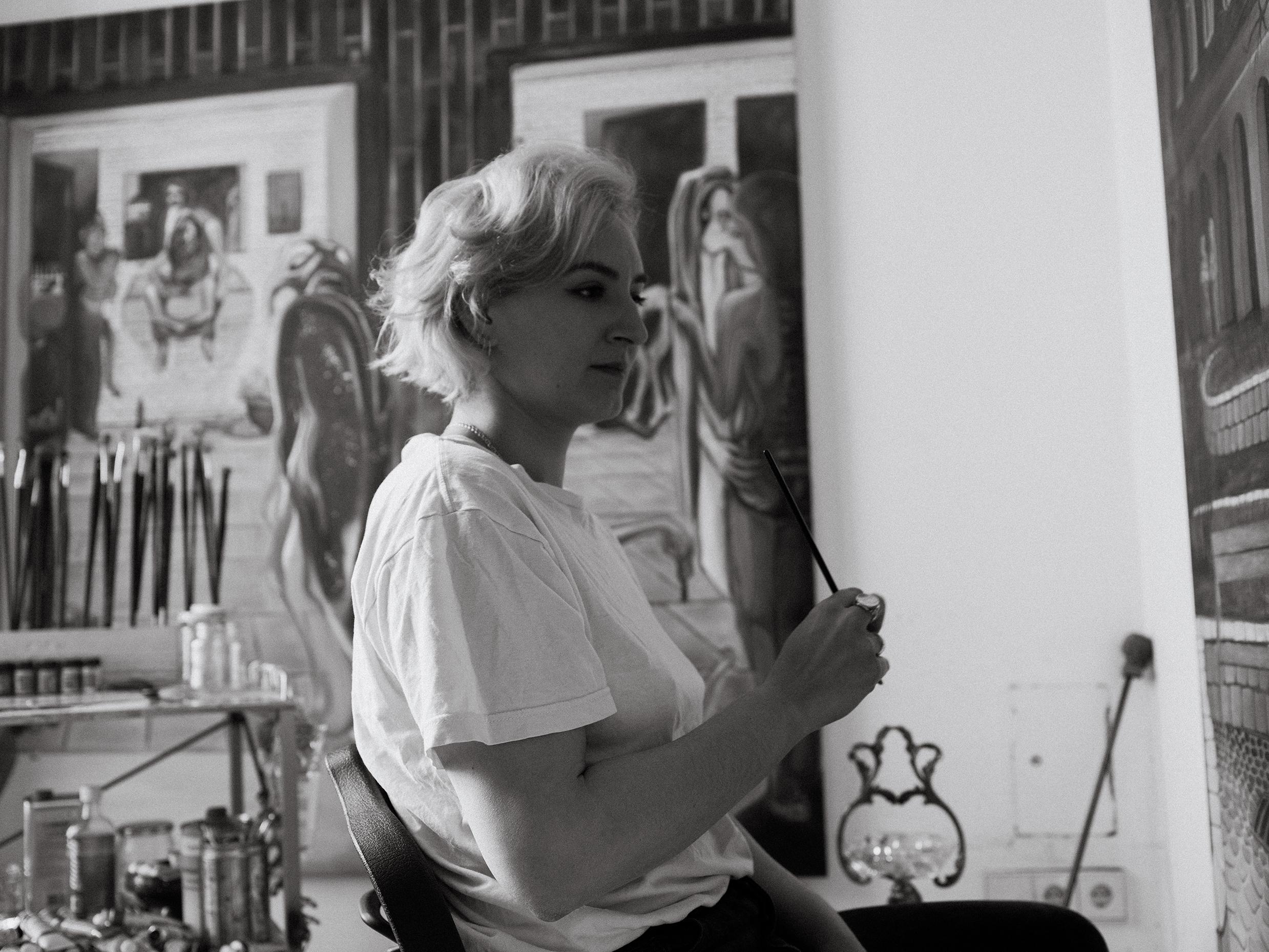 Negra Bernhard in her Studio in Vienna, 2021. | Photo: Gabriel Hyden